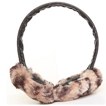 Women Chinchilla Faux Fur Earmuff – Animal Print Accessories